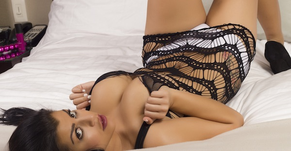 Briana Lee - Spider Web Lingerie