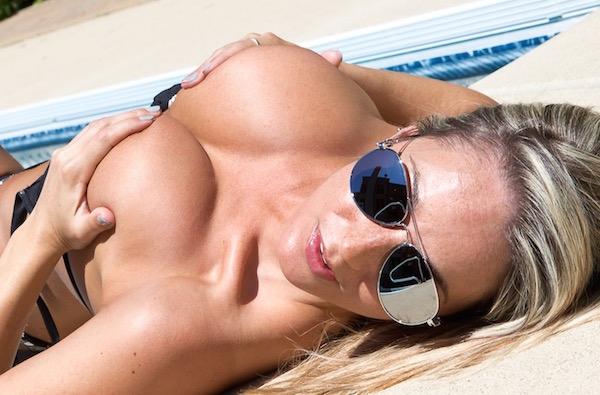 Nikki Sims - Black Silver Bikini