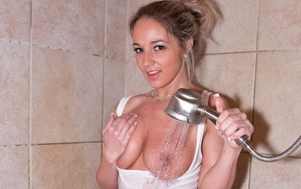 Shower time with Nikki Sims