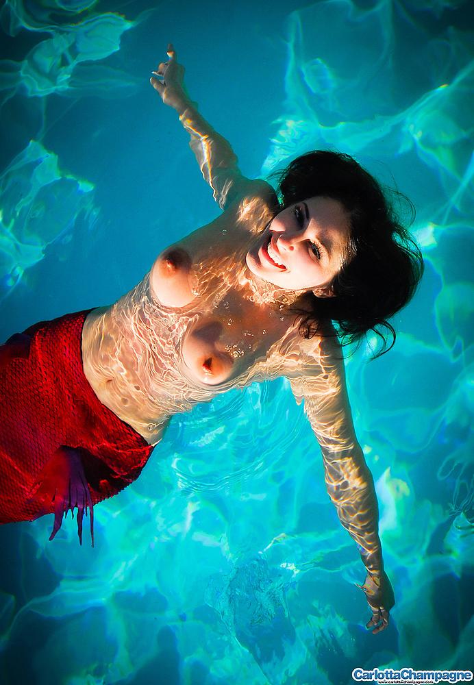 Beautiful Naked Fairy Or Mermaid Stok Picsu